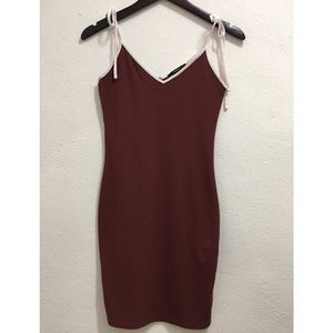 Forever 21 Tie Straps Bodycon Dress Small